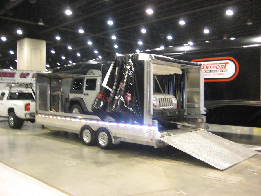 Rolling Soft Cover Canopy Flatdeck Utility Trailers