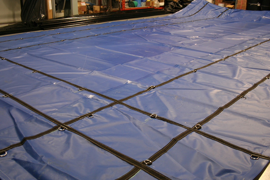 Custom Made Rolling Tarps Steel Hauling Trailer Lumber